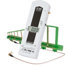 Vor dem Abschirmen Ausgangswerte messen HF Gigahertz-Solutions Messgeraet HF32D