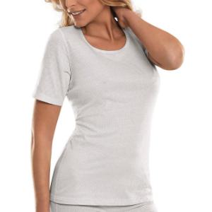 T-Shirt fuer Damen zur direkten Abschirmung von elektromagnetischer Strahlung am Koerper