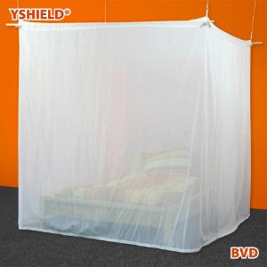 Bettbaldachin zur Abschirmung in Kastenform fuer Doppelbetten