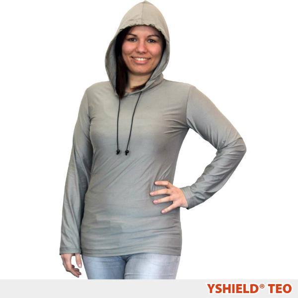 Abschirmender Hoodie aus Silver-Elastic TEO HF+NF