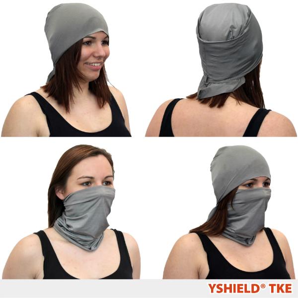 Abschirmender Kopfschutz aus Silver-Elastic TKE HF+NF