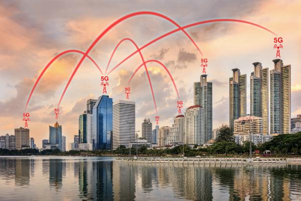 5G Netzwerk Verbindungskonzept