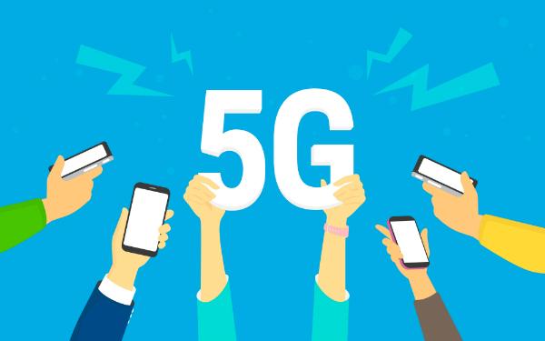 Drahtlose 5G Hochgeschwindigkeitsverbindung ueber das mobile Smartphone