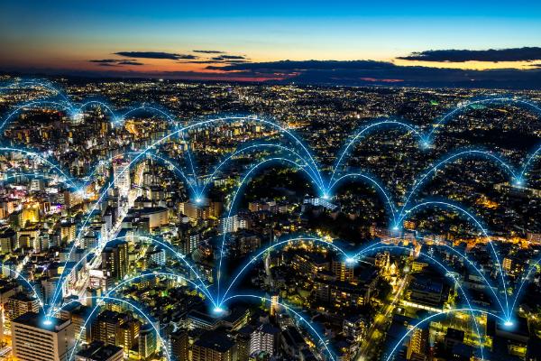 Kommunikationsnetzwerk-Konzept