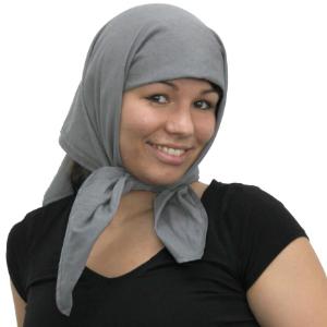 Abschirmendes Kopftuch aus Steel-Gray TKG | HF+NF