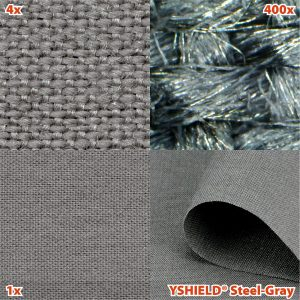 Abschirmstoff STEEL-GRAY | HF+NF | Breite 150 cm | 1 Laufmeter
