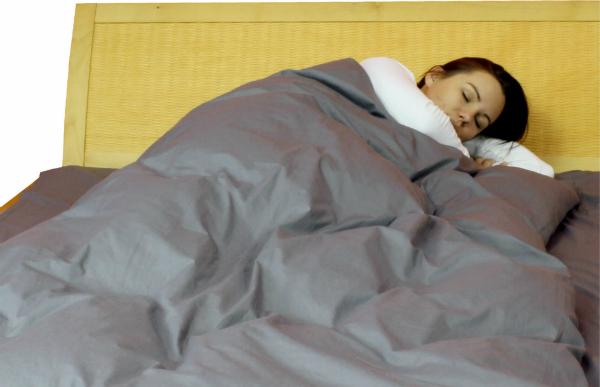 Abschirmende Bettwäsche aus Steel-Gray TBL
