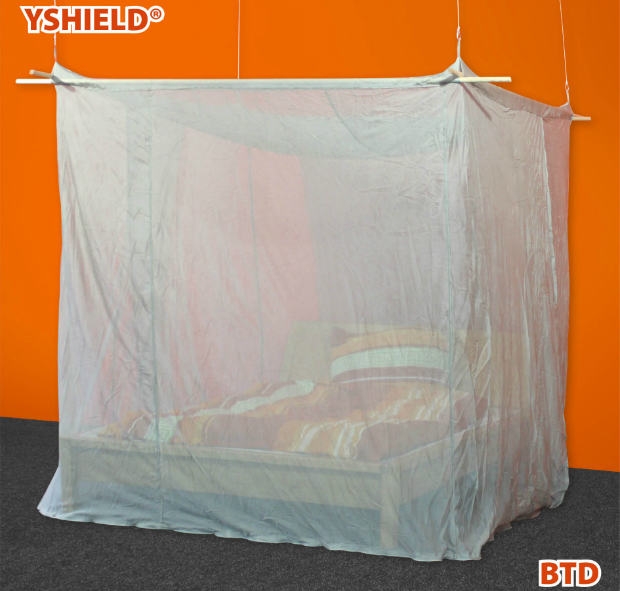 Abschirmbaldachin | Kasten Doppelbett | HF+NF | SILVER-TULLE