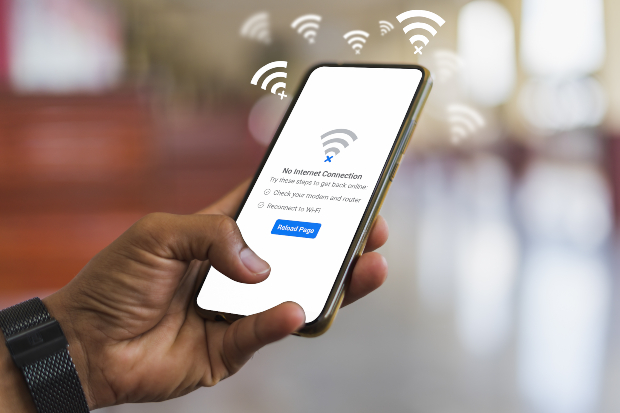 Handy beim Verbindungsaufbau