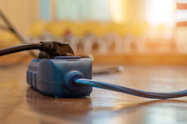 Handelsuebliche elektrische Leitungen in Wohngebaeuden