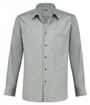 Strahlenschutz Hemd Herren HF grau Vollzwirn Koeperbindung