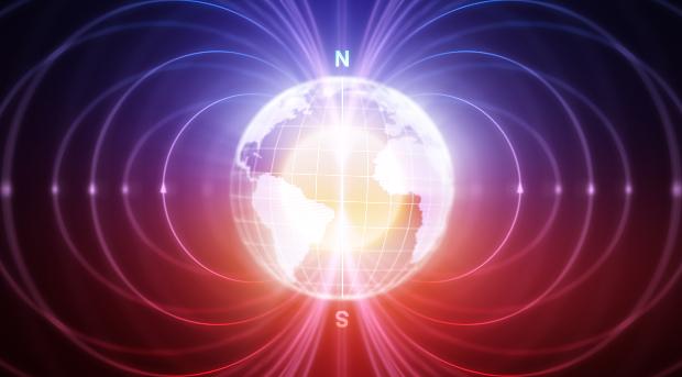 Darstellung des Erdmagnetfeldes
