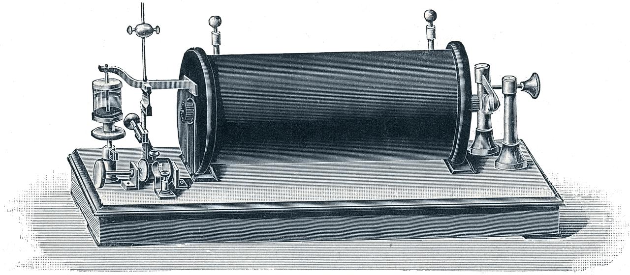 von Heinrich Daniel Rühmkorff entwickelter Funkeninduktor