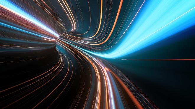 Symbolbild, Lichtübertragung - VLC-Technik