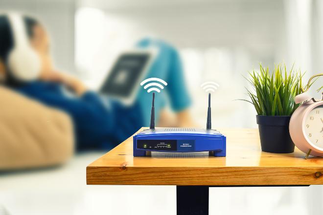 Herkömmlicher WLAN-Router