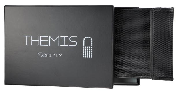 Premium Abschirmhülle für Funk-Autoschlüssel Nylon schwarz