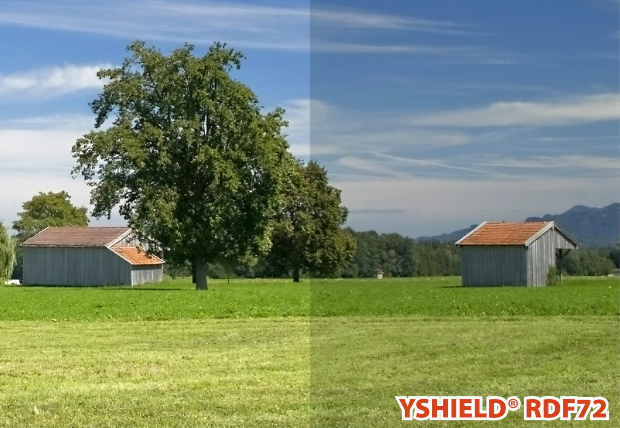 Abschirmende Fensterfolie RDF72 | HF | Breite 152 cm | 1 Laufmeter