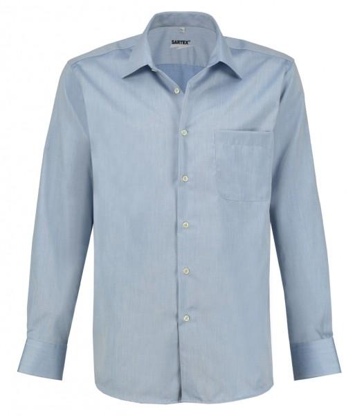 ESMOG-Shop_Strahlenschutz Hemd Herren | HF | hellblau | Vollzwirn | Köperbindung
