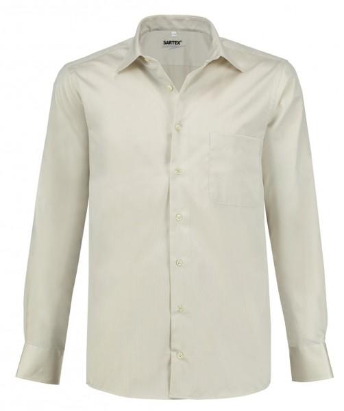 ESMOG-Shop_Strahlenschutz Hemd Herren | HF | beige | Vollzwirn | Köperbindung