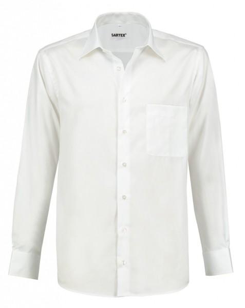 ESMOG-Shop_Strahlenschutz Hemd Herren | HF | weiss | Vollzwirn | Köperbindung