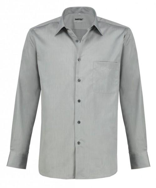ESMOG-Shop_Strahlenschutz Hemd Herren | HF | grau | Vollzwirn | Köperbindung